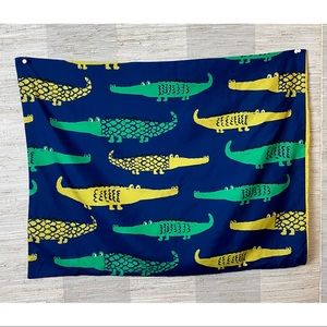 Pillowfort Alligator Blue Green Yellow Pillow Case